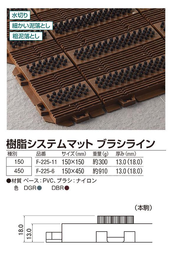 山崎産業 樹脂システムマット ブラシライン - ジョイントタイプの風除室マット 04