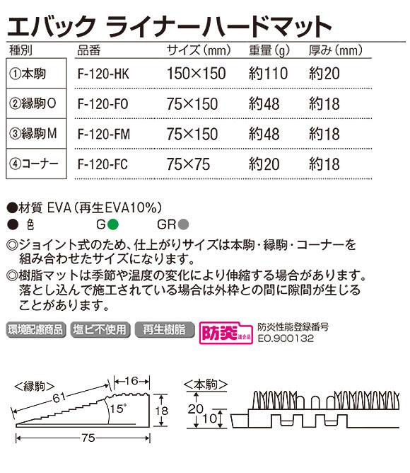 山崎産業 エバック ライナーハードマット - 学校や公共施設の泥や砂落としに最適 03