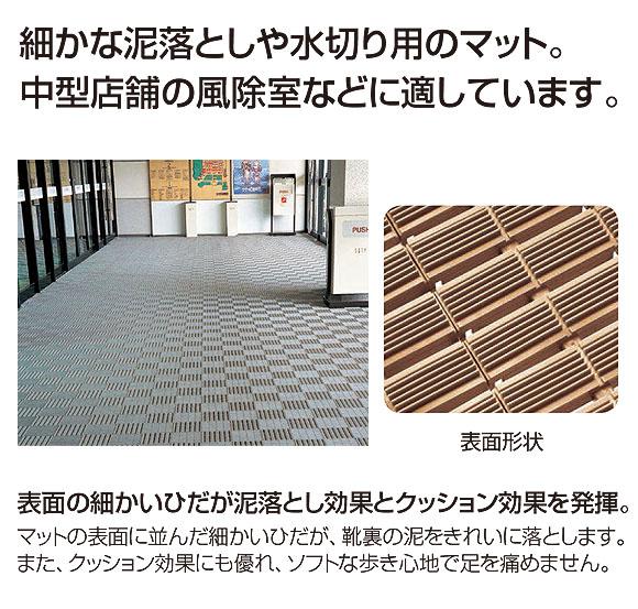 山崎産業 ピースラインマット - 細かな泥落としや水切り用のマット 01