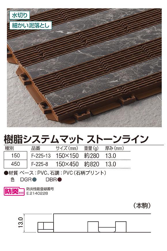 山崎産業 樹脂システムマット ストーンライン - ジョイントタイプの風除室マット 04