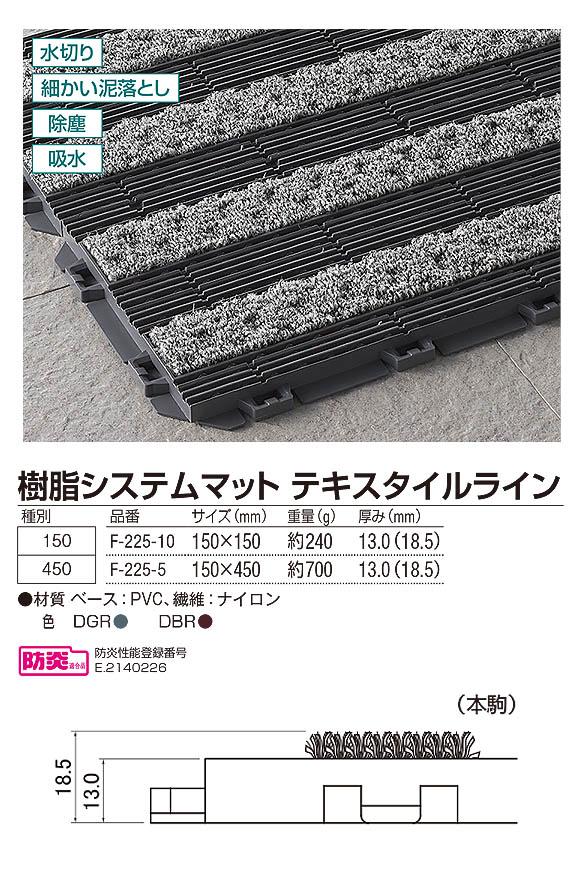 山崎産業 樹脂システムマット テキスタイルライン - ジョイントタイプの風除室マット 04