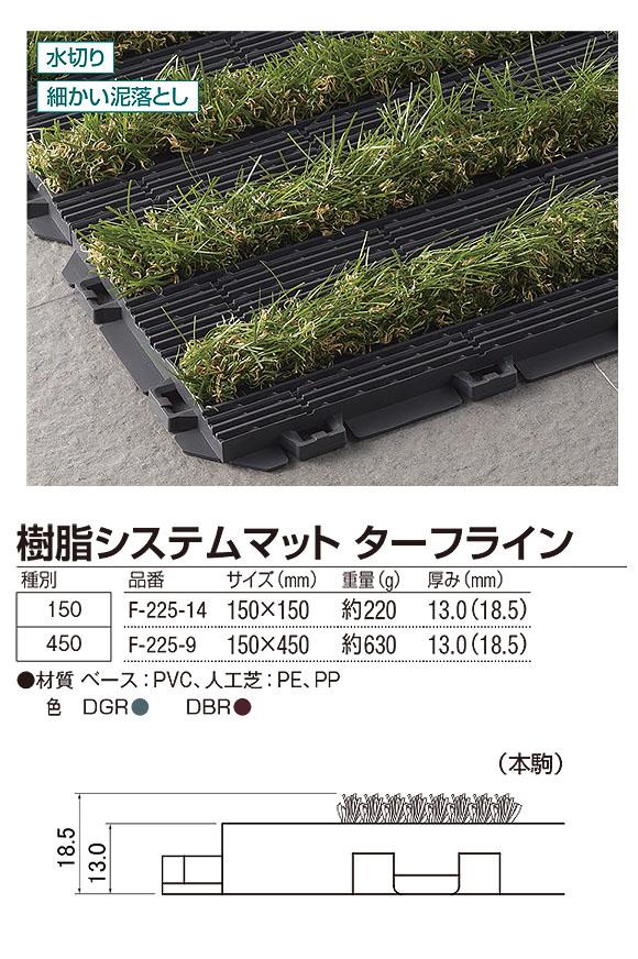 山崎産業 樹脂システムマット ターフライン - ジョイントタイプの風除室マット 04