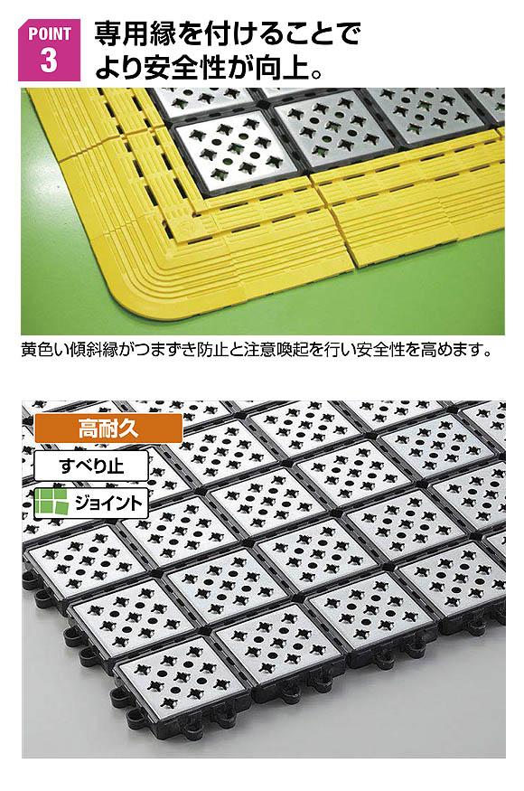 山崎産業 ノンスリップ メタルグリップ - 圧倒的な耐油性と耐久性のすべり止めマット 03