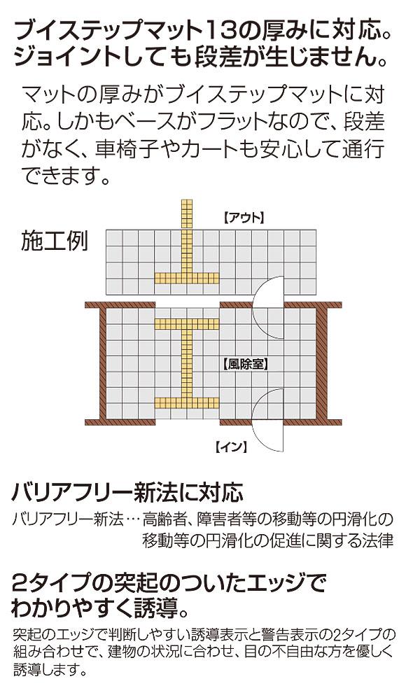 山崎産業 ニューガイドマットV - ブイステップマット13専用の誘導表示マット 02