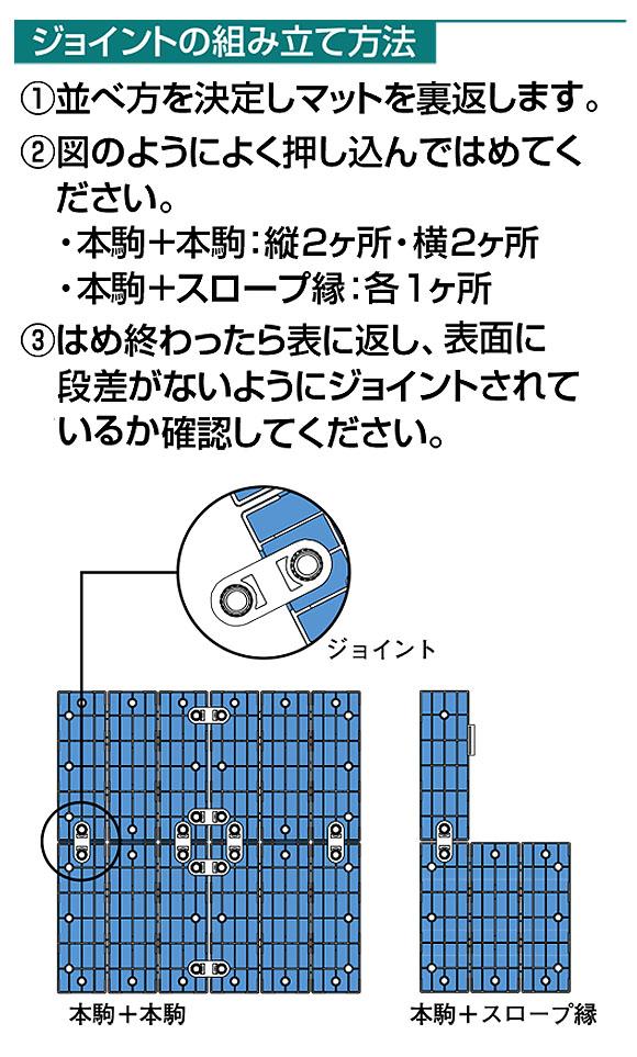 山崎産業 システムスノコ - 誘導表示やスロープが組み込めるバリアフリー対応スノコ 02