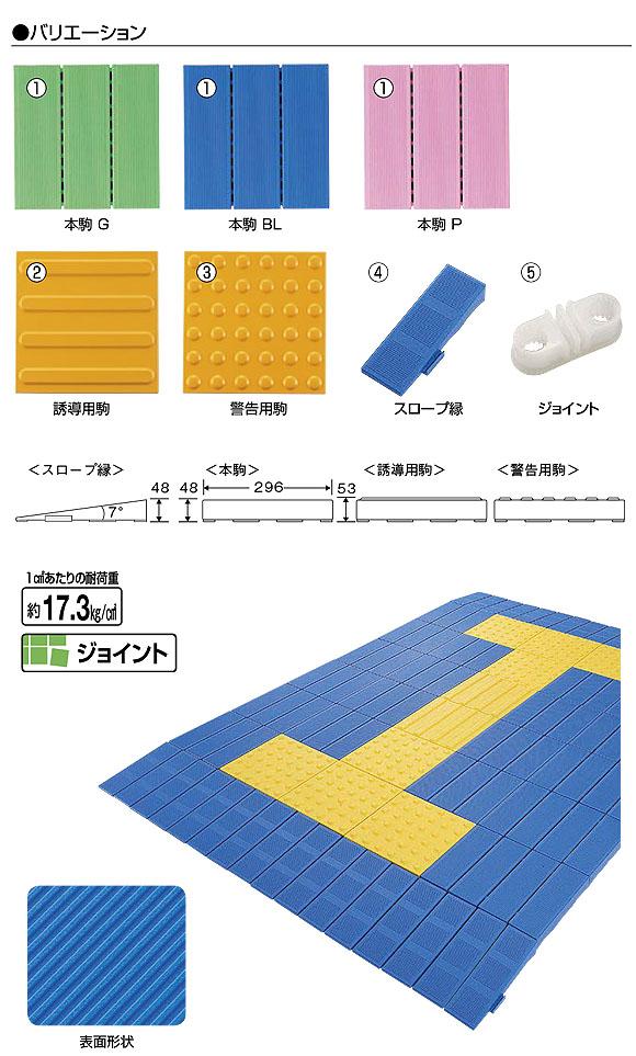 山崎産業 システムスノコ - 誘導表示やスロープが組み込めるバリアフリー対応スノコ 03
