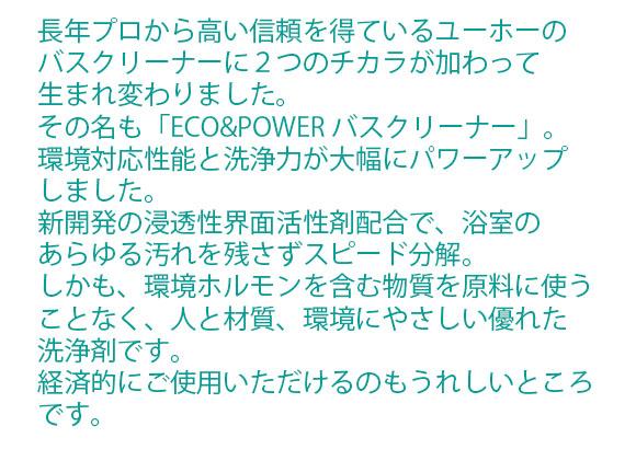 ユーホーニイタカ エコ&パワーバスクリーナー酸性[18L/1Lx12] 0102