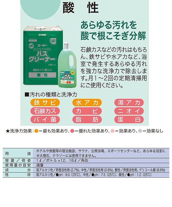 ユーホーニイタカ エコ&パワーバスクリーナー酸性[18L/1Lx12] 06