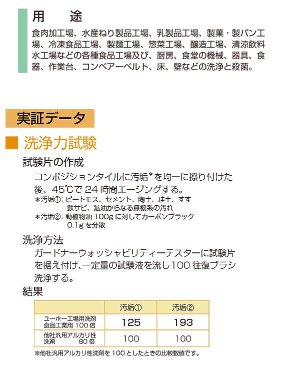 ユーホーニイタカ 工場用洗剤・食品工業用[5Lx2] 14