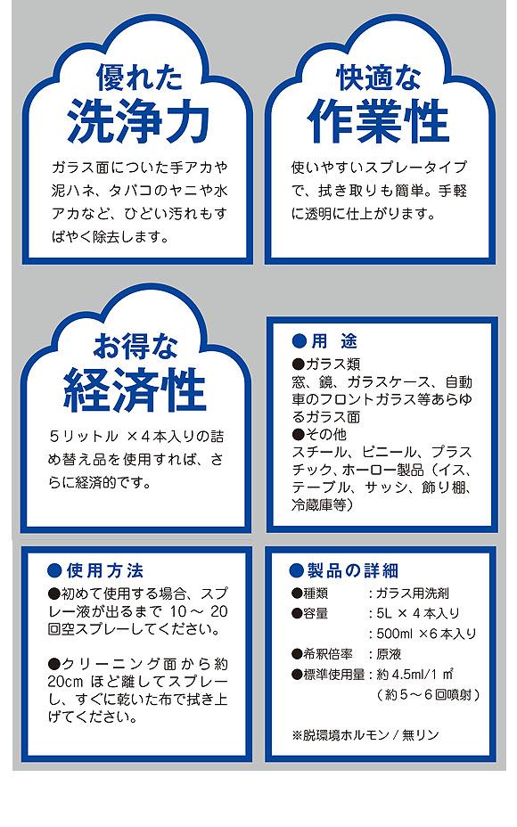 ユーホーニイタカ ガラスクリーナー - ガラス用洗剤 02