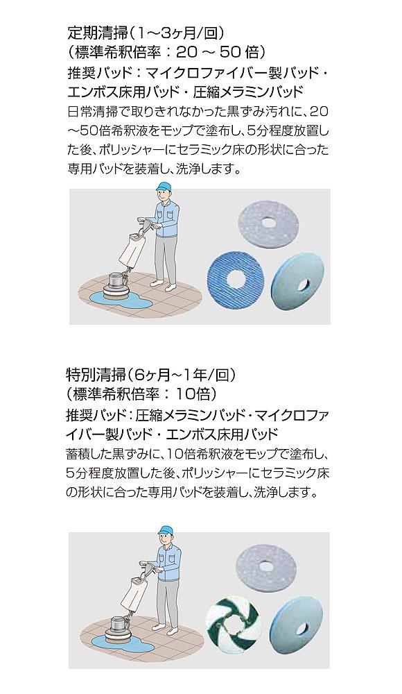 ユシロ セラミックタイル専用クリーナー[14L] - セラミックタイル専用洗浄剤 05