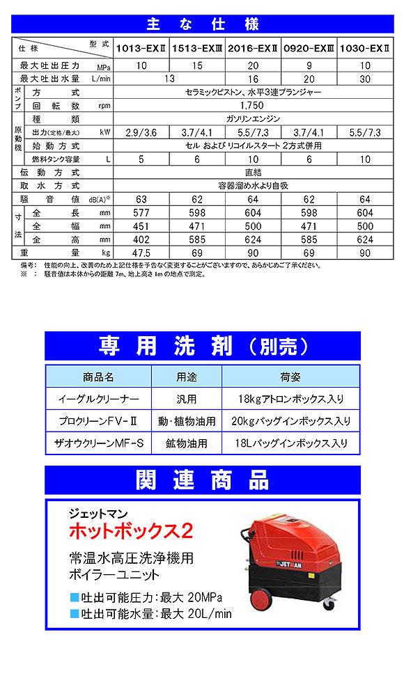 【リース契約可能】蔵王産業 ジェットマン FCPS-EXIIIシリーズ - 静音型ガソリンエンジン式高圧洗浄機【代引不可】 06