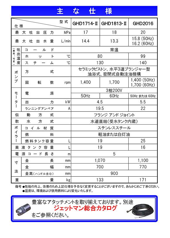 【リース契約可能】蔵王産業 ジェットマンGHD1714-II - ホット&スチーム高温水高圧洗浄機【代引不可】07