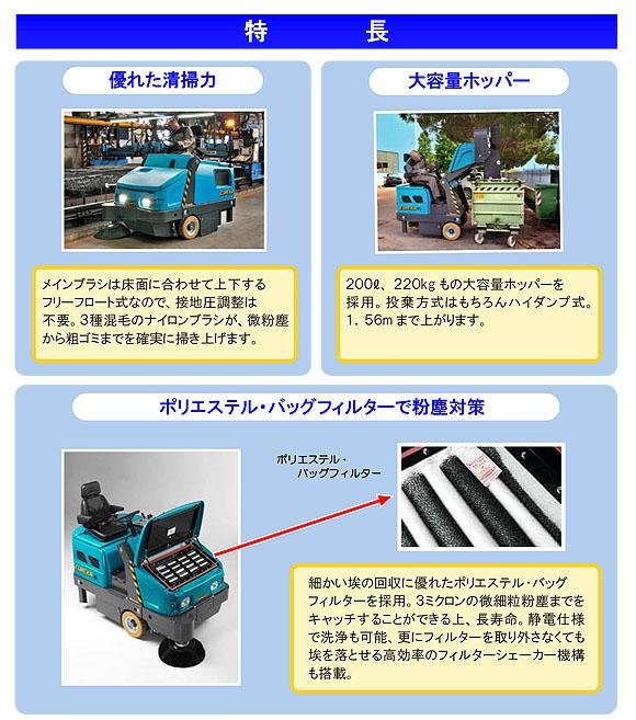 【リース契約可能】蔵王産業 マグナムHDK - 搭乗式中型動力清掃機【代引不可】0401