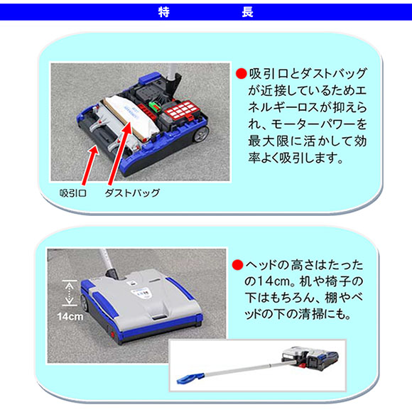 【リース契約可能】蔵王産業 ツインフォース LS38LI - リチウムイオン・バッテリー式 静音タイプ バキュームスイーパー 02