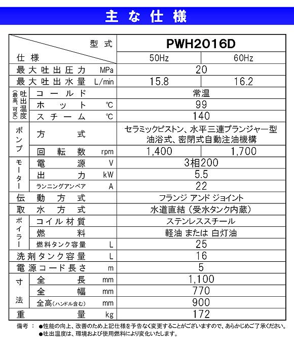 【リース契約可能】蔵王産業 ジェットマンPWH2016D - ホット&スチーム高温水高圧洗浄機【代引不可】04
