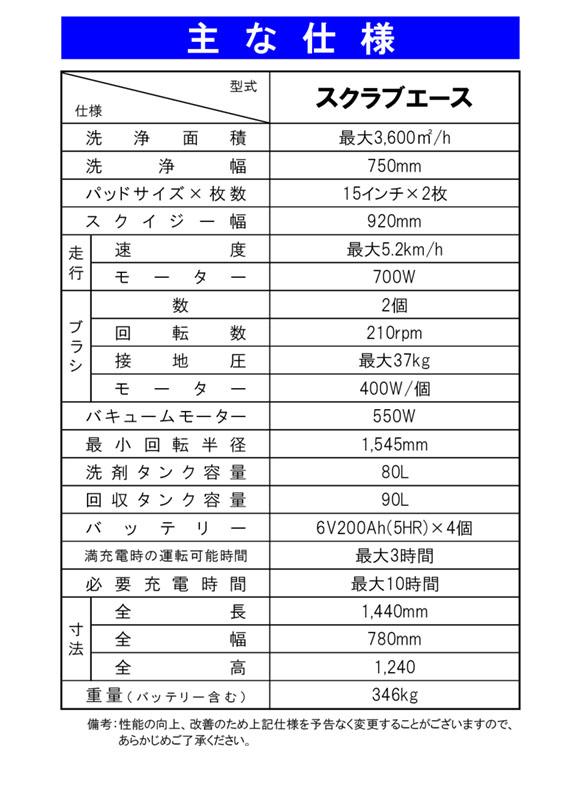 【リース契約可能】蔵王産業 スクラブメイト スクラブエース【代引不可】 05