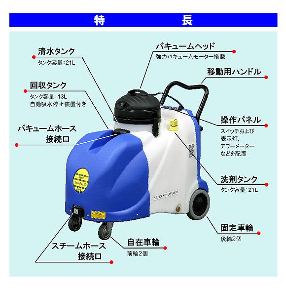 【リース契約可能】蔵王産業 スーパースチームバックIII【代引不可】03