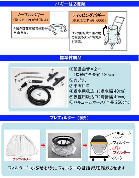 蔵王産業 バックマンW11N - 乾湿両用バキュームクリーナー【代引不可】商品詳細03
