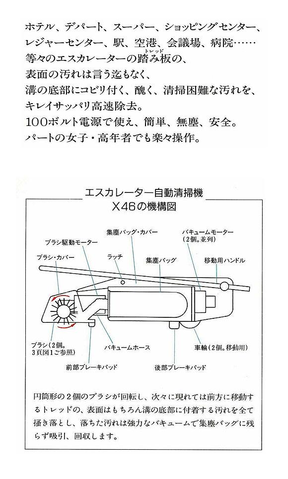 【リース契約可能】蔵王産業 エスカレータークリーナー X46 - エスカレーター清掃機【代引不可】02