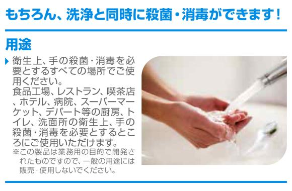 ディバーシー ハンドソーププラスF[2Lx6] - 業務用殺菌・消毒手洗い石けん商品詳細04