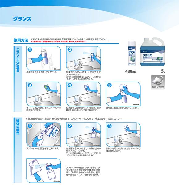 シーバイエス ガラスクリア(旧名:グランス)[5L] - 速効・強力業務用ガラスクリーナー 02