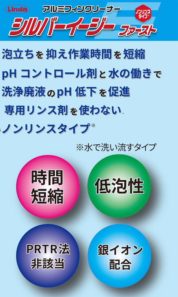 横浜油脂工業(リンダ) シルバーEz ファースト 10.5kg - アルミフィン洗浄剤・ノンリンスタイプ01