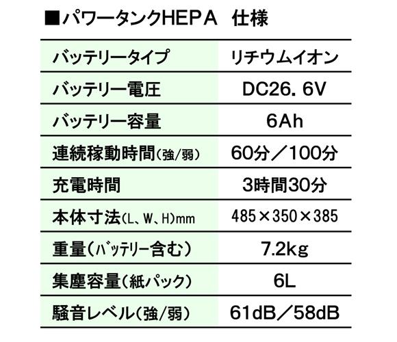 ペンギン マイティメイドHEPA - 高性能リチウムイオンバッテリー搭載コードレスドライバキュームクリーナー商品詳細07