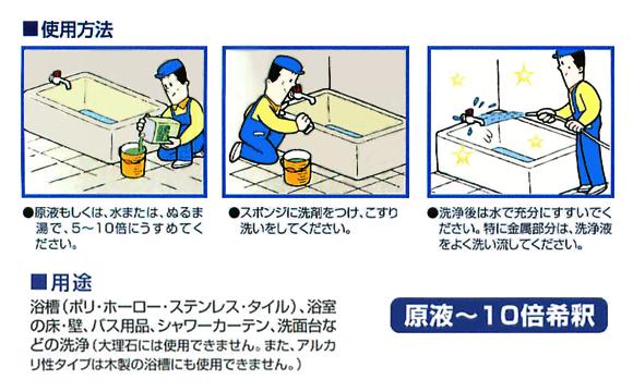 ペンギン バスフレッシュ 酸性[18L] - 除菌剤配合業務用バスクリーナー商品詳細07