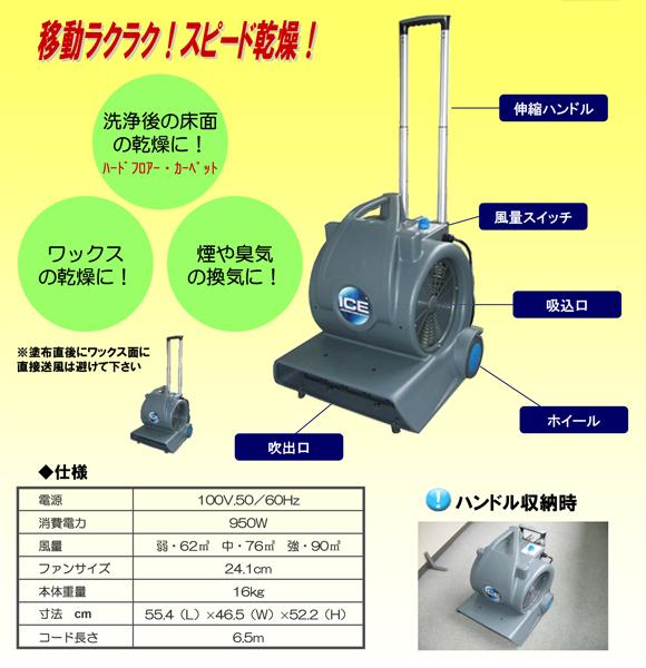 ペンギン エアームーバー2 - 業務用強力送風機商品詳細03