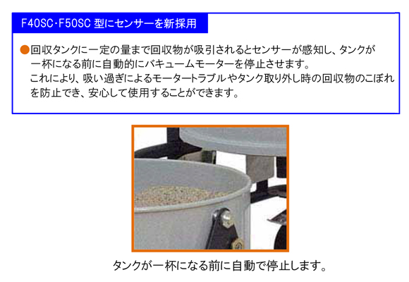 産業用真空掃除機バックマンF40SC【代引不可】商品詳細04