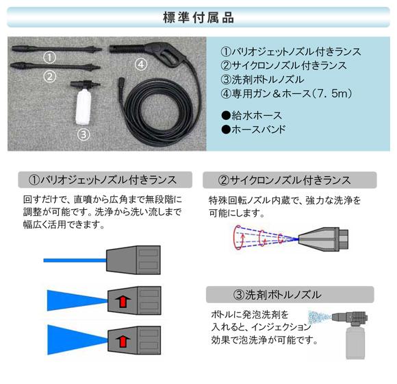 【リース契約可能】超軽量小型タイプ温水高圧洗浄機 ジェットマンFH86【代引不可】商品詳細03