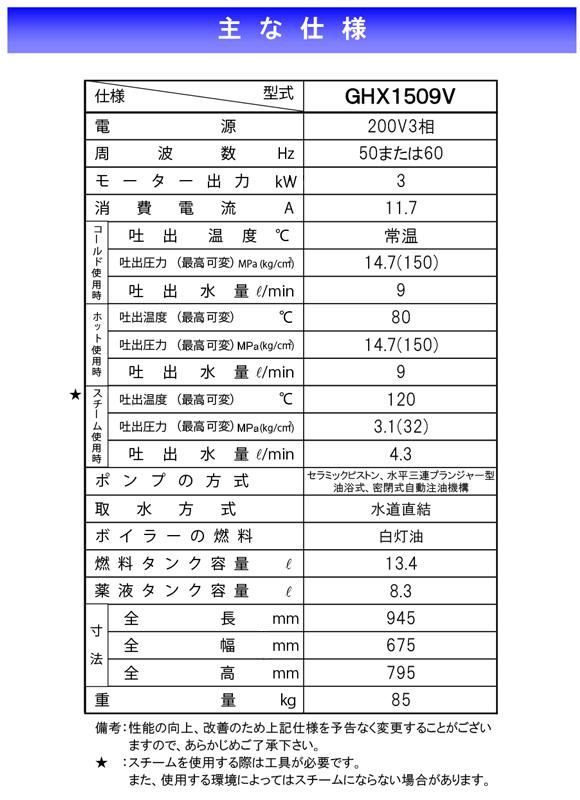 高温水高圧洗浄機 ジェットマンGHX1509バリュー【代引不可】商品詳細05