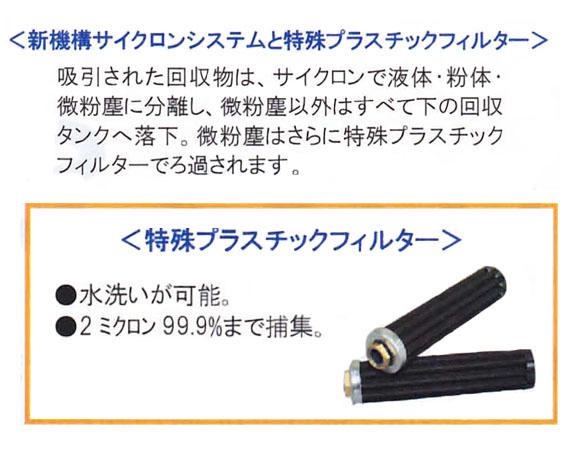 【リース契約可能】乾湿両用バキュームクリーナーバックマンSD3203【代引不可】商品詳細03