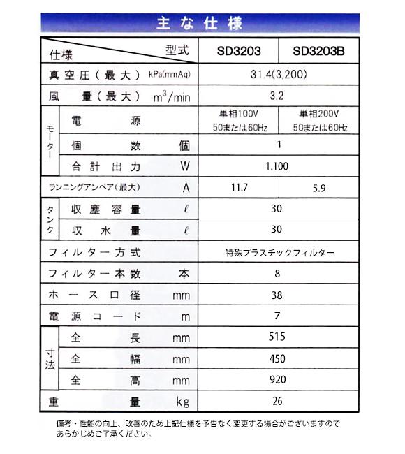 【リース契約可能】乾湿両用バキュームクリーナーバックマンSD3203【代引不可】商品詳細05