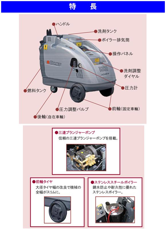 高温水高圧洗浄機 ジェットマンGHX1514-EX【代引不可】商品詳細02