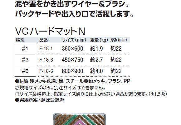 山崎産業 VCハードマットN04
