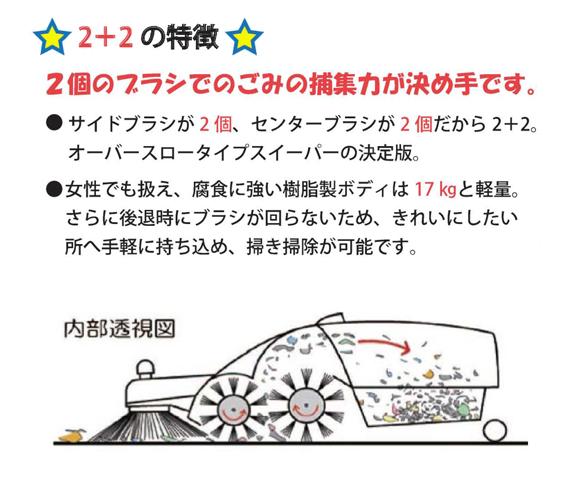 日本クランツレ 2+2【代引不可】 - 手押し式スイーパー商品詳細02