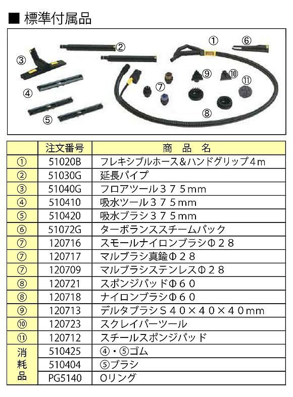 日本クランツレ ジュニアスター 200V - 業務用バキューム機能付きスチーム洗浄機【代引不可】 02