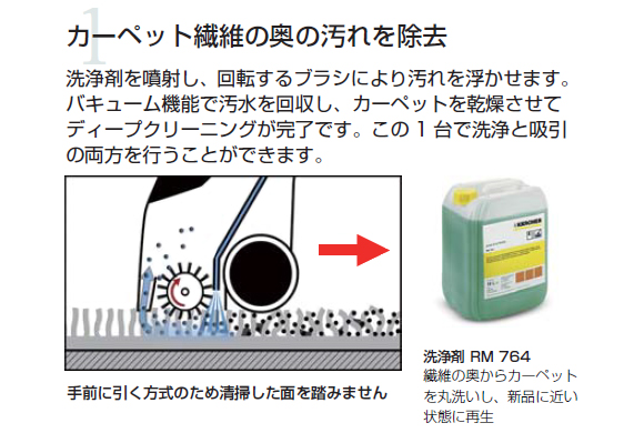 【リース契約可能】ケルヒャー BRC 30/15 C - 業務用手押し式カーペット洗浄機【代引不可】04