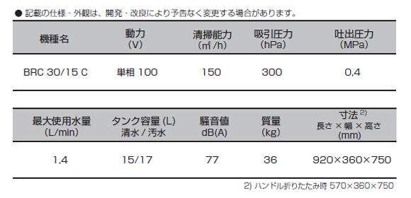 【リース契約可能】ケルヒャー BRC 30/15 C - 業務用手押し式カーペット洗浄機【代引不可】08