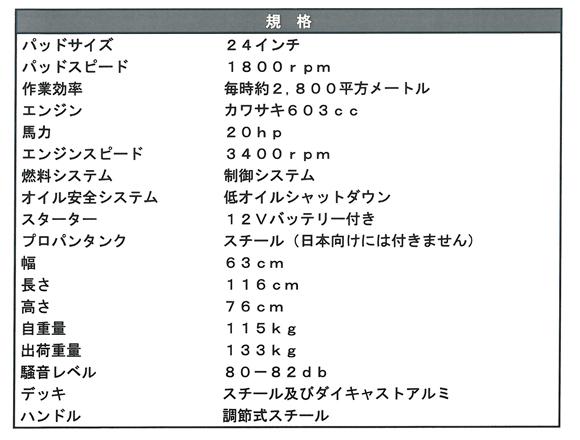 レリアント - 24インチ高性能プロパンバーニッシャー商品詳細02