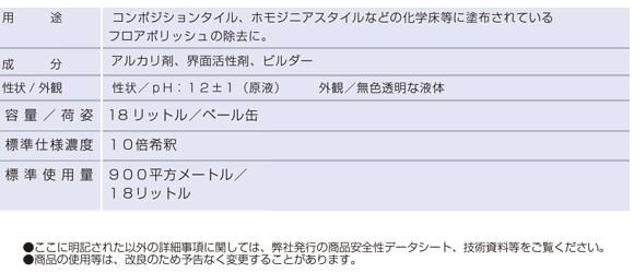 ユーホーニイタカ リムーバー[18L] - 経済性・除去剤商品詳細02