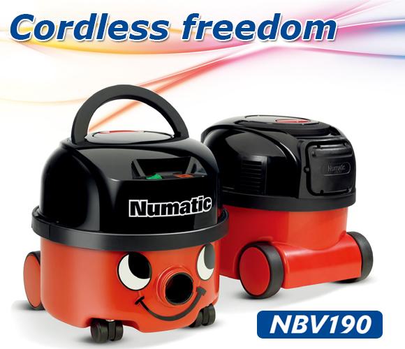 Numatic(ヌマティック) NBV190(バッテリー式ヘンリー) - 業務用乾式コードレス掃除機商品詳細01