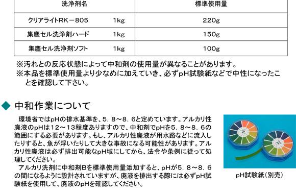 クリアライト工業 中和剤B[5kg] 02
