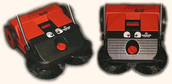 コンドルロードスイーパートップ550に目玉ステッカーを貼った写真