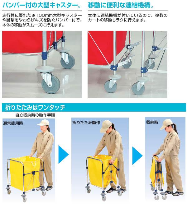 山崎産業 コンドル リサイクルカートY-2(※布袋付き)【代引不可】02