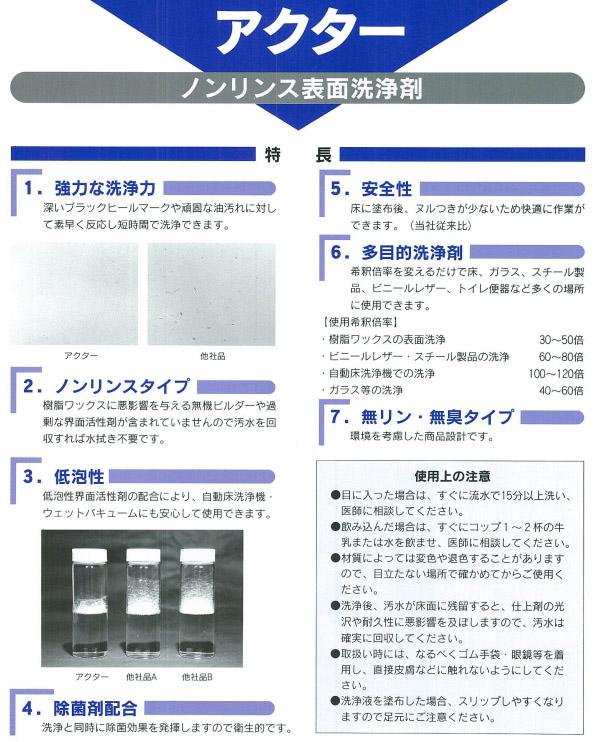 リンダ アクター[18kg] - 高性能表面洗浄剤03