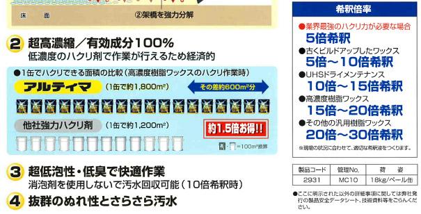 リンダ アルティマ[18kg] - 有効成分100%・超高濃縮剥離剤04