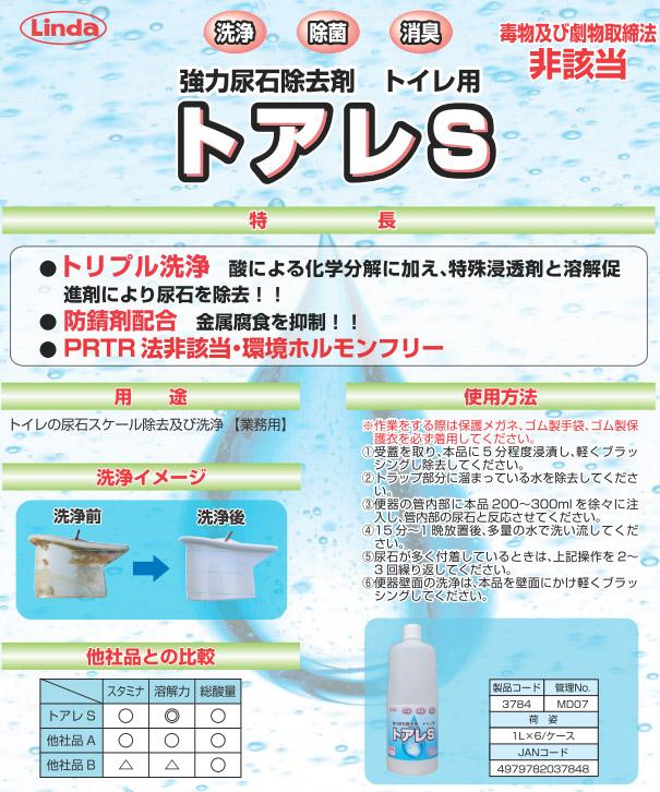 横浜油脂工業株式会社 リンダ トアレS-強力尿石除去剤01
